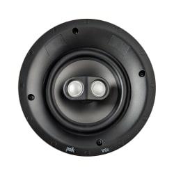 Polk Audio V6s Vanishing V Series Switchable Stereo/Surround Sound In-Ceiling Speaker, White, V6S
