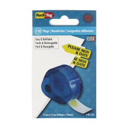 Redi-Tag® Preprinted Signature Flags In Dispenser, PLEASE SIGN & DATE, Yellow