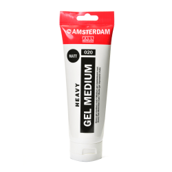 Amsterdam Acrylic Mediums, Heavy Gel, Matte, 250 mL, Pack Of 2