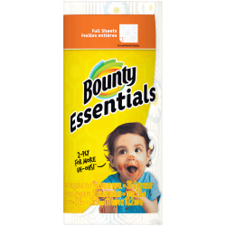 "Bounty® Essentials 2-Ply Paper Towels, 10-1/4"" x 11"", Print, 78 Sheets Per Roll, 1 Roll"