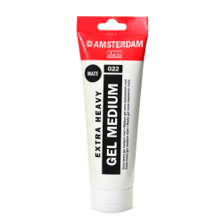 Amsterdam Acrylic Mediums, Extra-Heavy Gel, Matte, 250 mL, Pack Of 2