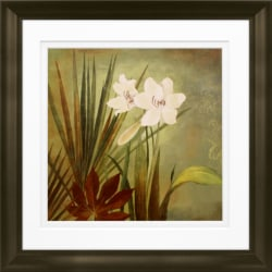 "Timeless Frames Marren Espresso-Framed Floral Artwork, 10"" x 10"", Paradise I"