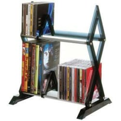 Atlantic Mitsu 52 CD/36 DVD Media Rack, Smoke