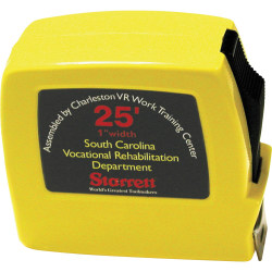 """Tape Measure, 25' x 3/4"""" Tape With Blade Lock (AbilityOne 5210-01-139-7444)"""