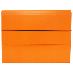 "JAM Paper® Strong Kraft Portfolio With Elastic Closure, 10"" x 13 1/4"", Orange"