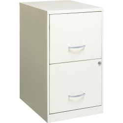 "Lorell® SOHO 18""D 2-Drawer Lateral File Cabinet, White"