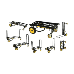 Advantus™ Multi-Cart® 8-in-1 Cart, 500 Lb Capacity, Black/Yellow