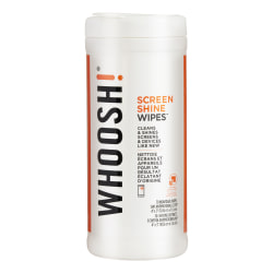 WHOOSH! Screen Shine Wipes, Container Of 70 Wipes