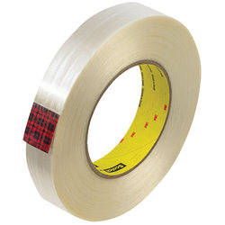 """Scotch® 890MSR Strapping Tape, 3"""" Core, 1"""" x 60 Yd., Clear, Case Of 12"""