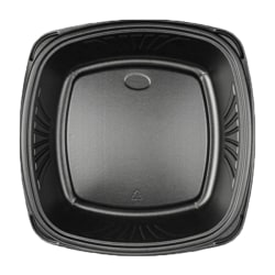 "Forum Plates With Square Bases, 9"", Black, Pack Of 300 Plates"