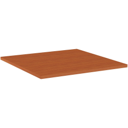 """Lorell® Hospitality Square Table Top, 42""""W, Cherry"""