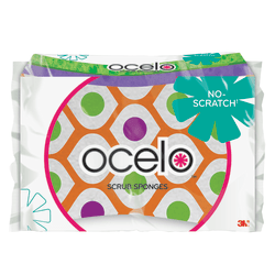 O-Cel-O™ Scrub Sponge, Assorted Colors, Pack Of 2