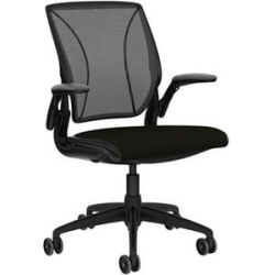 "Humanscale Diffrient World Chair - Black Seat - Black Back - Black Frame - 26"" Width"