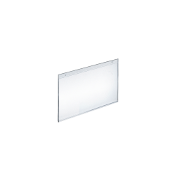 "Azar Displays Wall-Mount U-Frame Acrylic Sign Holders, 5 1/2"" x 7"", Clear, Pack Of 10"