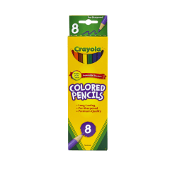 Crayola® Color Pencils, Assorted Colors, Pack Of 8 Color Pencils