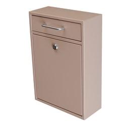 """Mail Boss Locking Security Drop Box, 16 1/4""""H x 11 1/4""""W x 4 3/4""""D, Tan"""