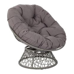Office Star™ Papasan Chairs, Gray/Gray