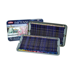 Derwent Inktense Pencil Set, Assorted Colors, Set Of 72 Pencils