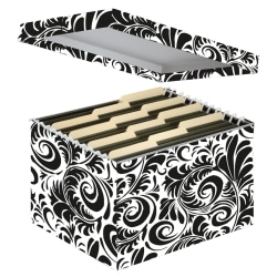 Snap-N-Store™ 50% Recycled File Storage Box, Letter Size, Black/White Scroll