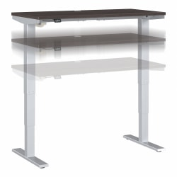 "Move 40 Series by Bush Business Furniture Height-Adjustable Standing Desk, 48"" x 24"", Storm Gray/Cool Gray Metallic, Standard Delivery"