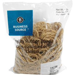 """Business Source Quality Rubber Bands - Size: #12 - 1.8"""" Length x 1.1"""" Width - Sustainable - 2500 / Pack - Rubber - Crepe"""