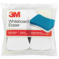 """3M™ Whiteboard Erasers, 3"""" x 5"""", Pack Of 2 Erasers"""