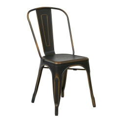 Office Star™ Bristow Armless Chair, Antique Copper, Set Of 4 Chairs