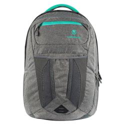 "Volkano Crush Backpack With 15"" Laptop Pocket, Gray/Aqua"
