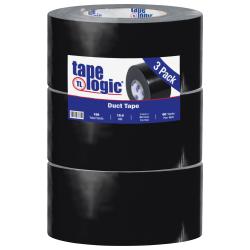 "Tape Logic® Color Duct Tape, 3"" Core, 3"" x 180', Black, Case Of 3"