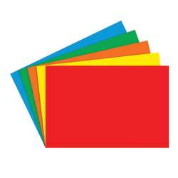 """Top Notch Teacher Products® Bright Blank Primary Index Cards, 4"""" x 6"""", Assorted Colors, 100 Cards Per Pack, Case Of 6 Packs"""