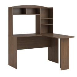 Ameriwood™ Home Sutton L-Desk With Hutch, Walnut