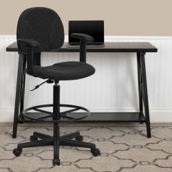 Flash Furniture Ergonomic Drafting Chair, Black
