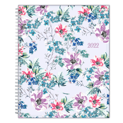 """Blue Sky™ Weekly/Monthly Planner, 8-1/2"""" x 11"""", Laila, January To December 2022, 137273"""