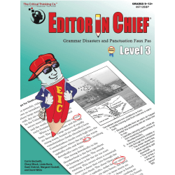 The Critical Thinking Co. Editor In Chief Level 3 Workbook, Grades 9-12