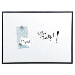 "Quartet® Magnetic Dry-Erase Board With Aluminum Frame, 36"" x 24"", White Board, Black Frame"