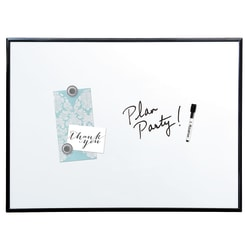 """Quartet® Magnetic Dry-Erase Whiteboard With Aluminum Frame With 36"""" x 24"""", Aluminum Frame With Black Finish"""