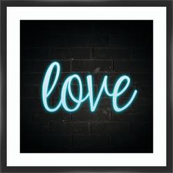 """PTM Images Framed Art, Love, 26""""H x 26""""W"""
