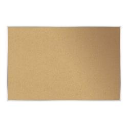 "Ghent Cork Bulletin Board, 48 1/2"" x 120 1/2"", Silver Aluminum Frame"