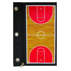 """Inkology Basketball Binder Pencil Pouches, 10-1/2""""H x 7""""W x 1/4""""D, Pack Of 12 Pouches"""