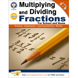 Mark Twain Multiplying and Dividing Fractions Workbook, Grades 5-8