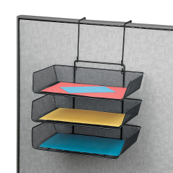Fellowes® Partitions Additions™ Triple Tray, Black