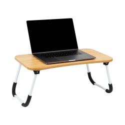 "Mind Reader Bamboo Laptop Lap Desk, 15-1/4""L x 23""W, Beige"