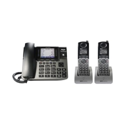 RCA Unison U1000 4-Line Corded Phone System With 2 Cordless Handsets