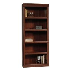 "Sauder® Heritage Hill 72""H Bookcase, Open 5-Shelf, Classic Cherry"