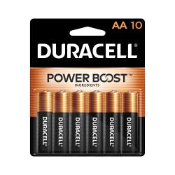 Duracell Coppertop Alkaline AA Batteries, Pack Of 10