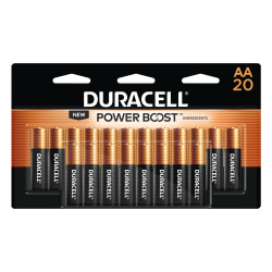 Duracell® Coppertop AA Alkaline Batteries, Pack Of 20