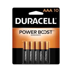 Duracell® Coppertop AAA Alkaline Batteries, Pack Of 10