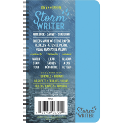 """Roaring Spring Storm Writer Notebook - Twin Wirebound3""""5"""" - Water Resistant, Stain Resistant - 1Each"""