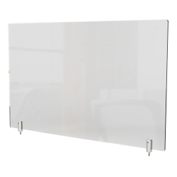 """Ghent Partition Extender, With Screws, 18""""H x 42""""W x 13/16""""D, Clear"""
