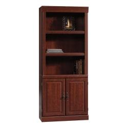 "Sauder® Heritage Hill 71 1/4"" 3 Shelf Traditional Bookcase, Cherry/Dark Finish, Standard Delivery"